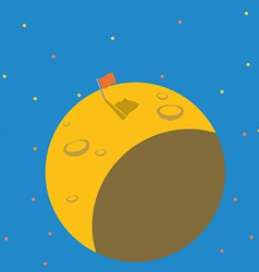 Successful mission to flagged on the plane vector image