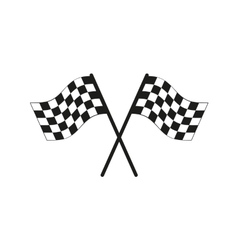 The checkered flag icon finish symbol flat vector