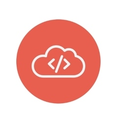 Transferring files cloud apps thin line icon vector image