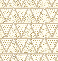 Triangles background with gold Dots seamless vector image