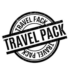 Travel pack rubber stamp vector