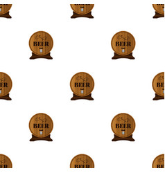 beer seamless pattern in flat style barrels with vector image