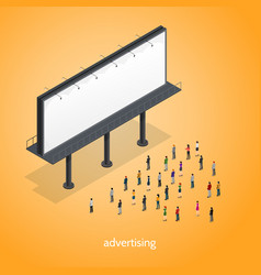 Advertising isometric concept vector