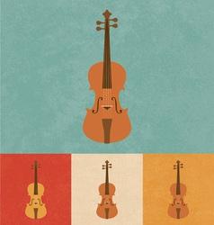 Retro Violin vector image