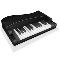 Small black piano vector