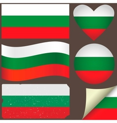 Bulgaria flags set vector
