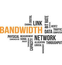 word cloud bandwidth vector image