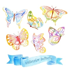 Watercolor butterfly vector