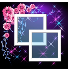 Page layout photo frame vector