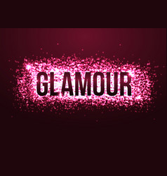 Glamour pink background with glitters shining vector