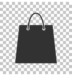 Shopping bag  dark gray icon on vector