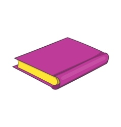 Pink book icon cartoon style vector
