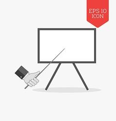 Whiteboard presentation concept icon flat design vector