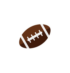 American football ball flat icon college sport vector