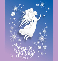 angel greeting card vector image vector image