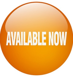 Available now orange round gel isolated push vector