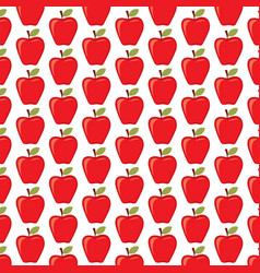 background pattern with red apples vector image