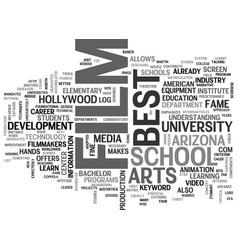 Best film school in the us text word cloud concept vector