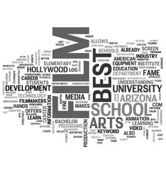 best film school in the us text word cloud concept vector image vector image