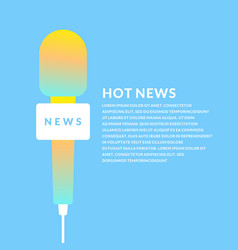 bright poster with the news of a microphone vector image