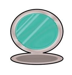 Cosmetic mirror icon image vector