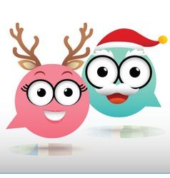 Couple Chat Christmas vector image