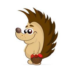 Cute hedgehog isolated vector