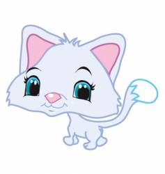 cute kitten leaving vector image