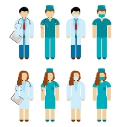 Doctors and surgeons vector
