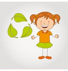 Ecologically kids design vector