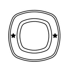 Elegant shield frame icon vector