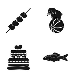 Fishing aquarium cooking and other web icon in vector