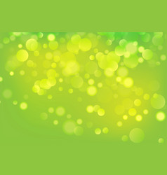 green abstract bokeh background colorful design vector image vector image
