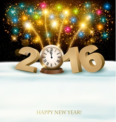 Happy new year 2016 background with fireworks vector
