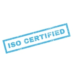 Iso certified rubber stamp vector