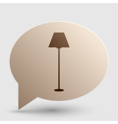 Lamp simple sign brown gradient icon on bubble vector