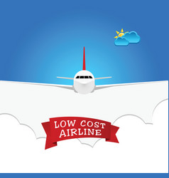 low cost airline sign vector image vector image