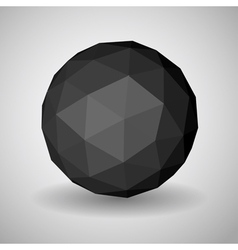 Low polygonal sphere vector image vector image