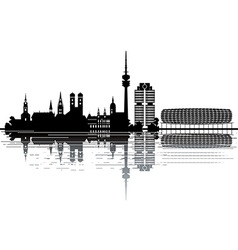 Munich skyline vector image