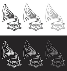 Old gramophone in eps vector