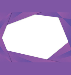 purple triangle frame border vector image vector image