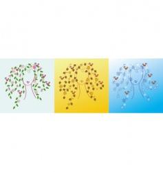 seasons girls vector image vector image