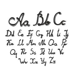 set of watercolor handwriting font vector image vector image