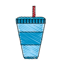 Soda cup icon image vector