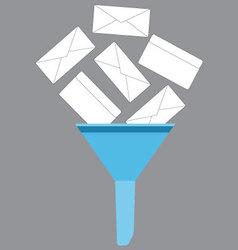 Spam filter icon vector