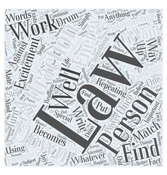 The law of attraction and relationships word cloud vector