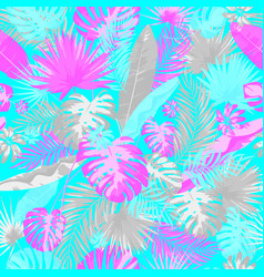 tropical summer print with exotic leaves and vector image vector image