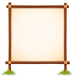Wood sign white blank vector image vector image