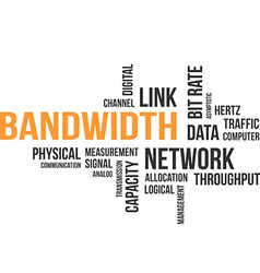 Word cloud bandwidth vector