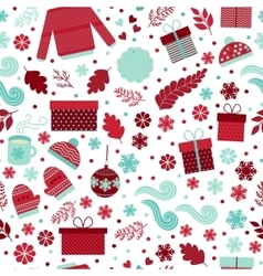 Christmas seamless pattern vector